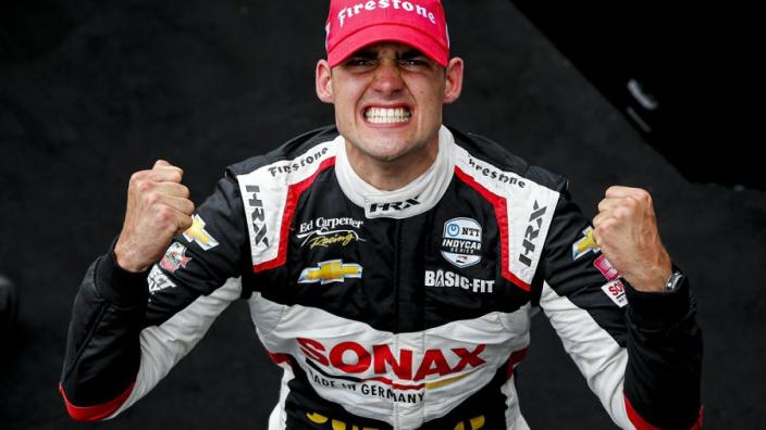 """Van Kalmthout schrijft geschiedenis met IndyCar-zege: """"Bijzondere datum voor Nederland"""""""