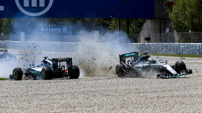 VIDEO: Hamilton, Rosberg crash and Verstappen sets record in Spanish GP classic