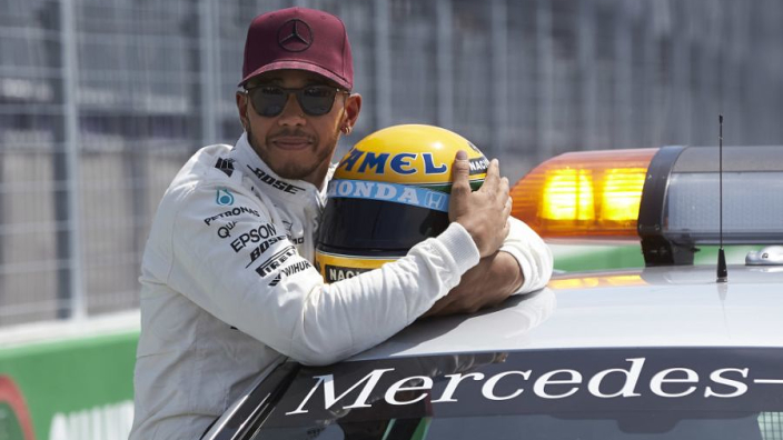 Hamilton pays tribute to Senna on 25th anniversary of Imola tragedy