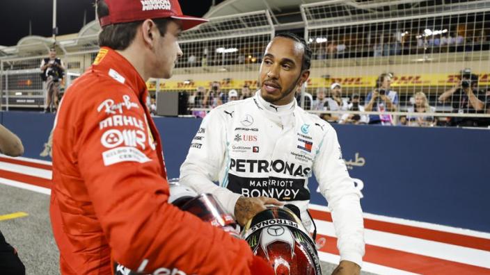 Hamilton says Ferrari out of Mercedes' reach in Bahrain