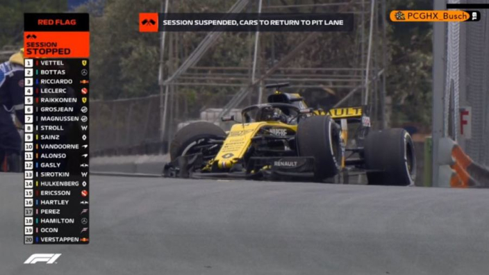 VIDEO: Hulkenberg smashes into barriers in huge FP2 crash