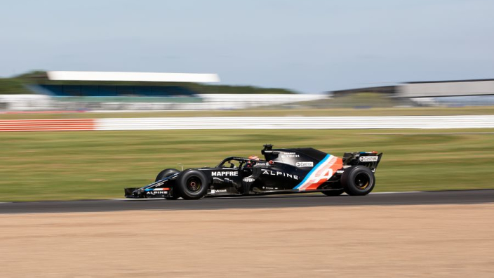 Alpine Academy prospect completes over 100 Silverstone laps in F1 test