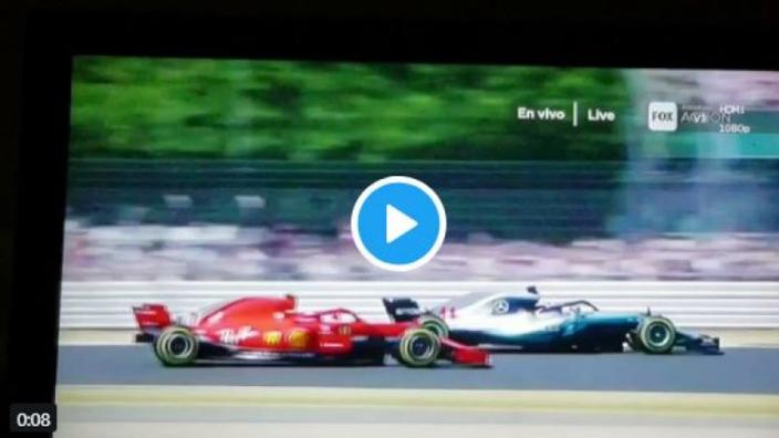 VIDEO: Hamilton SPINS out after Raikkonen crash