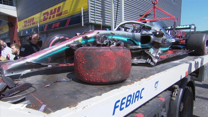 Ferrari rapid again before Hamilton crash: Belgian GP FP3 Results