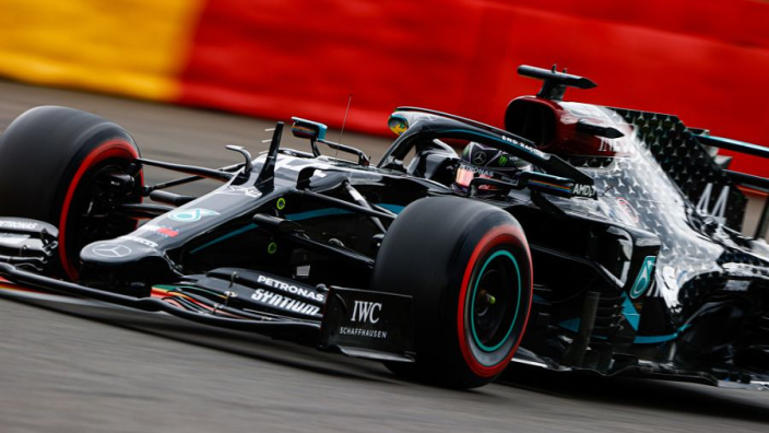 Hamilton two shy of Schumacher's wins record after cruise in Belgium