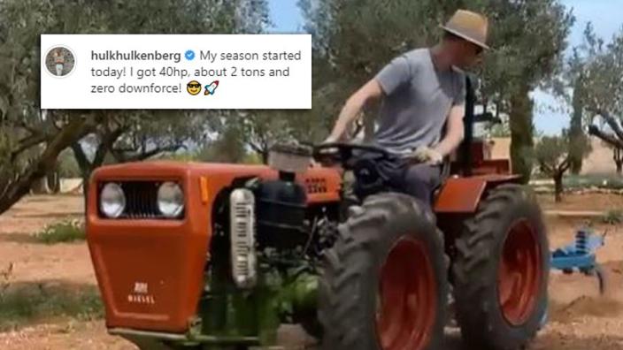 VIDEO: Hulkenberg trapt nieuwe seizoen af met 40 pk en zonder downforce