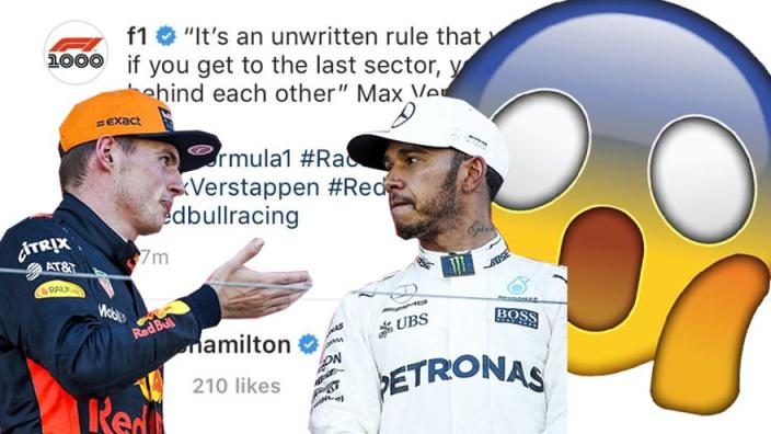 Hamilton zet Verstappen internationaal te kakken via Instagram