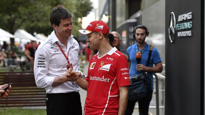 "Mercedes boss Wolff unable to ignore ""asset"" Vettel"