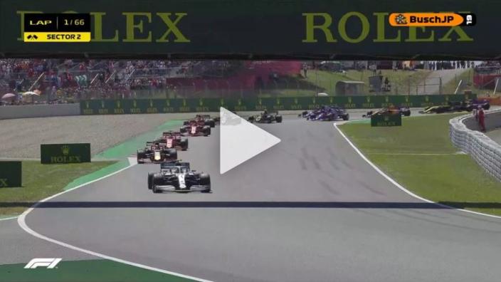 VIDEO: Vettel's desperate lunge at start fails!