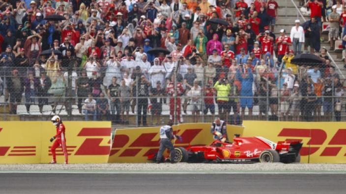 Vettel finds Hockenheim crash funny
