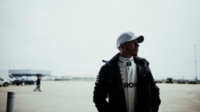 Hamilton enjoys a snooze in his Mercedes