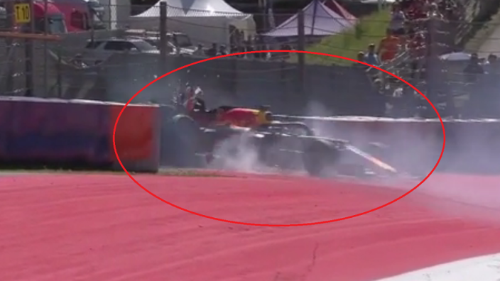 VIDEO: Verstappen wrecks Red Bull in Austria FP2!