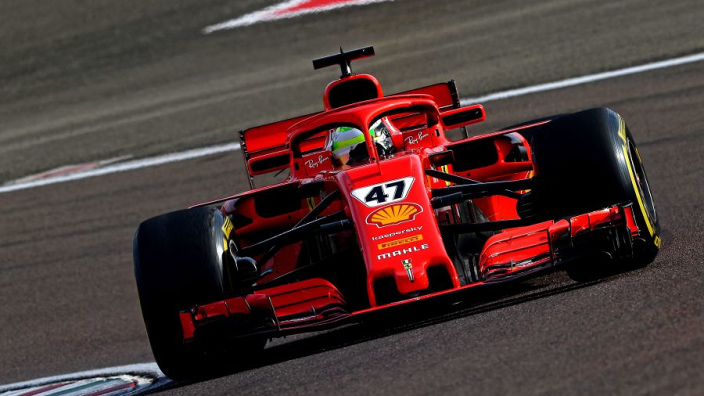 Schumacher back behind the wheel of a Ferrari - in pictures