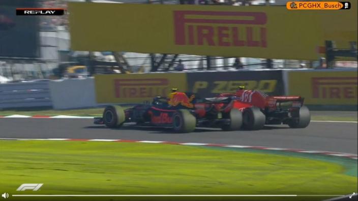 VIDEO: Verstappen and Raikkonen crash on lap one!