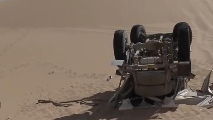 Dakar Rally 2021: Ten Brinke vier keer over de kop, auto total loss verklaard