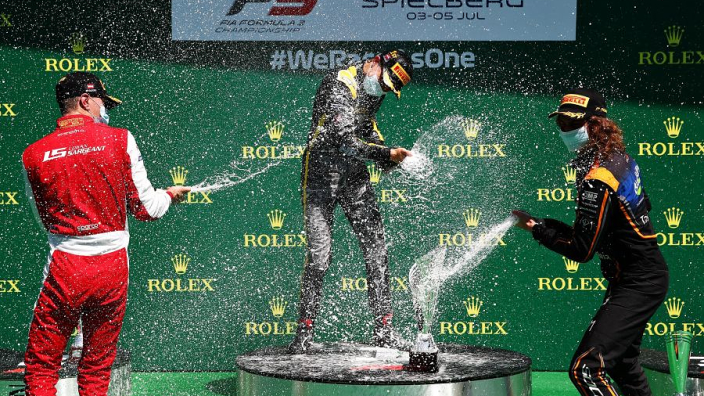 New 2020 F1 podium procedure debuts in F3