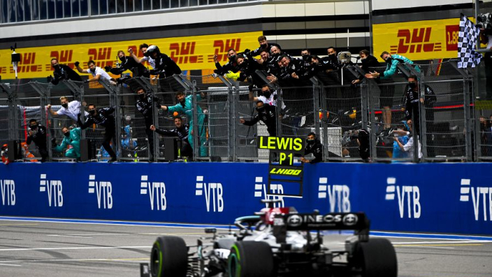 """Hamilton - """"Embarrassing"""" to ecstasy to land 100th win"""
