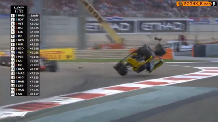 VIDEO: Hulkenberg flipped upside down in horror crash!