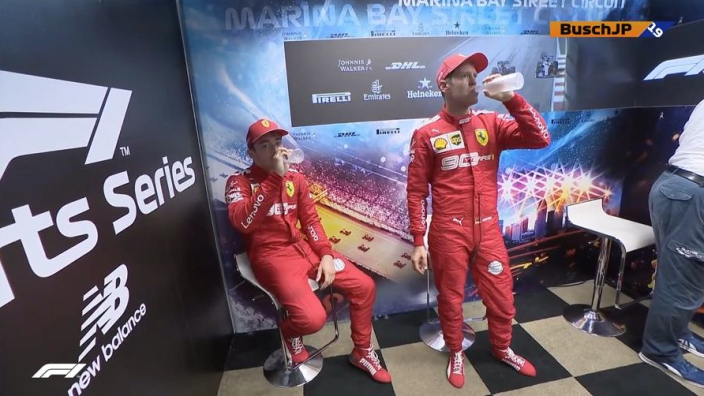 """Leclerc: """"Doel is Vettel verslaan, maar niet ten koste van het team"""""""
