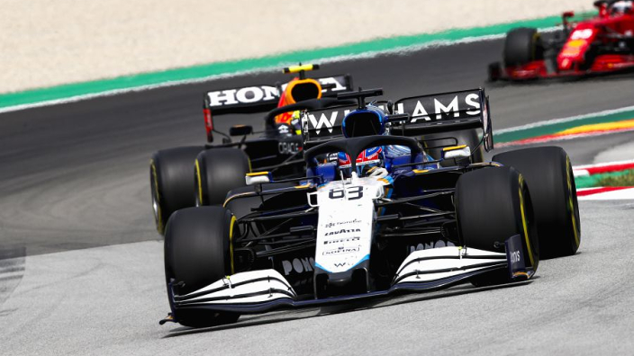 """Williams """"damned if we do damned if we don't"""" on tyre gamble - Russell"""