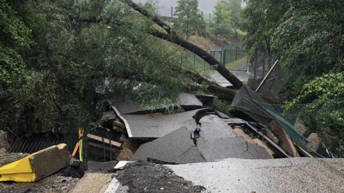 Spa-Francorchamps weer getroffen door grote overstroming, laat flinke schade achter