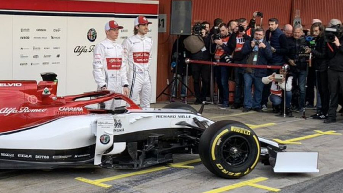 Alfa Romeo reveal 2019 F1 car in Barcelona