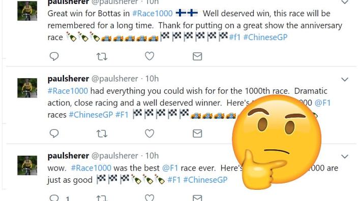 F1-medewerker zaait verwarring door uitslag Grand Prix tien uur voor de race te posten