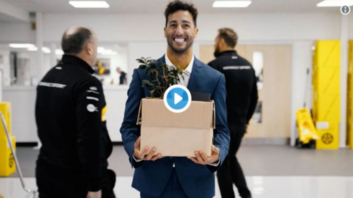VIDEO: Ricciardo's first day at Renault