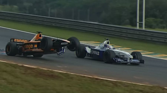 VIDEO: When Verstappen took the Brazilian GP leader out...