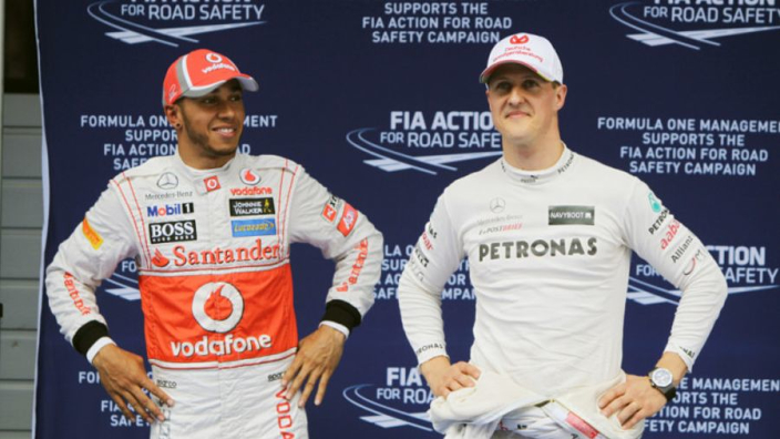 Hamilton tributes Schumacher on 50th birthday