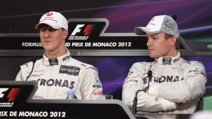 Rosberg: 'Schumacher gebruikte zelfs het toilet om me te zieken'