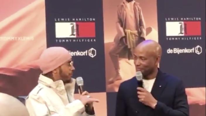 IN BEELD: Hamilton bezoekt Amsterdam voor promotie van eigen kledingcollectie