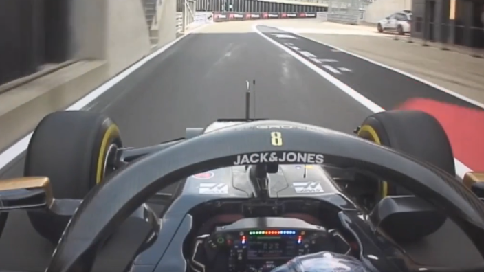 VIDEO: Grosjean crashes into Silverstone pit-lane wall