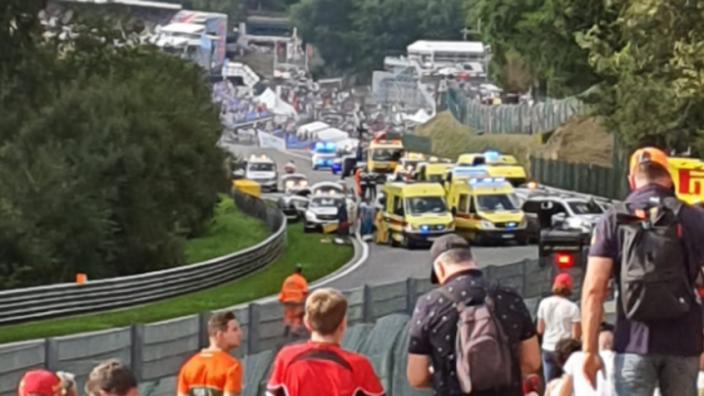 Formule 2-race stilgelegd: Hubert overleden aan gevolgen horrorcrash