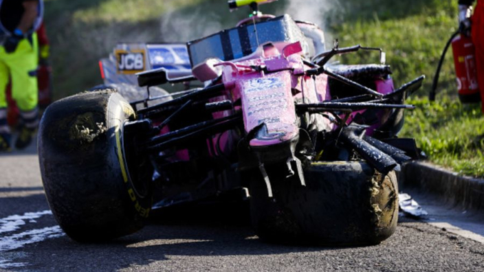 Racing Point suspect carbon debris caused Stroll shunt
