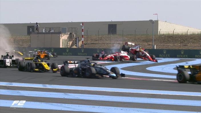 VIDEO: Schumacher sent flying in team-mate crash!