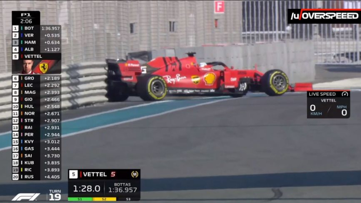 VIDEO: Vettel hits the barriers in Abu Dhabi!
