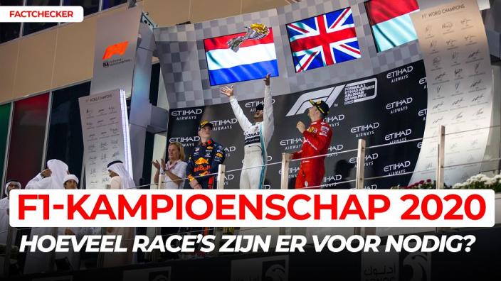 Hoeveel races zijn er nodig voor een Formule 1-kampioenschap? | Factchecker