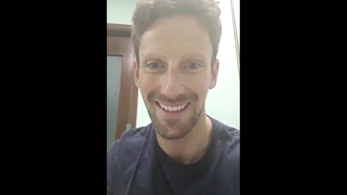 """Grosjean geeft update vanuit het ziekenhuis: """"Als alles goed gaat, mag ik morgen weg"""""""