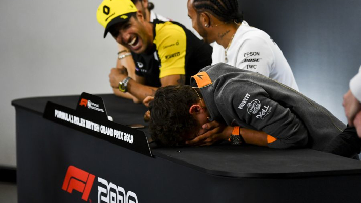 Flashback: When Ricciardo and Norris caused press conference chaos