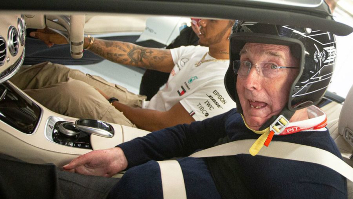 VIDEO: Hamilton gives Frank Williams hot lap to remember!