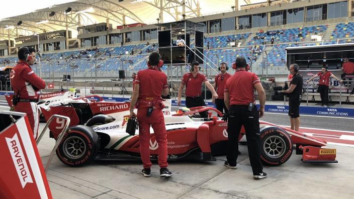 Schumacher top rookie in F2 qualifying debut