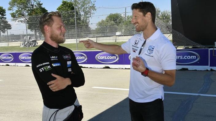 Magnussen tastes IMSA success after Grosjean reunion