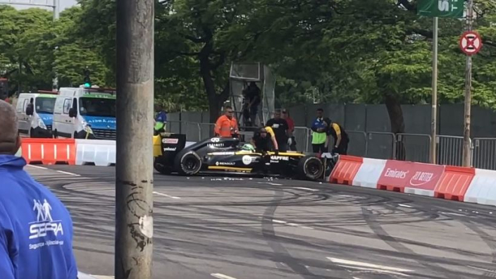VIDEO: Renault driver shunts at F1's Senna festival