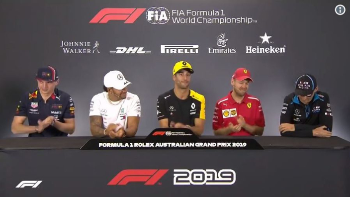 VIDEO: Ricciardo leads applause for Kubica