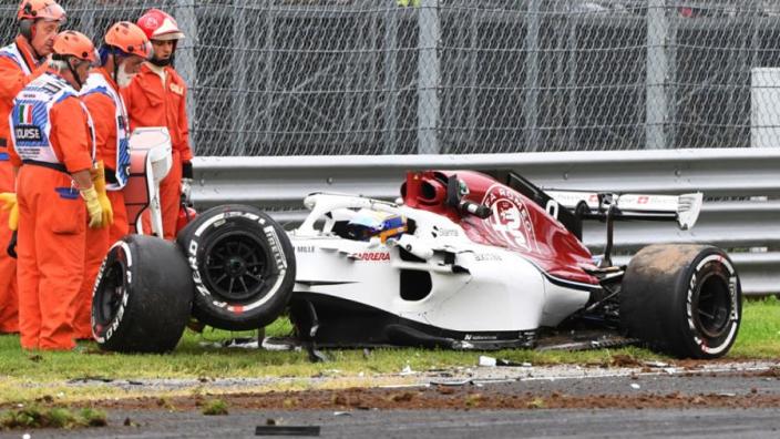 Ericsson fit to drive after massive Monza crash