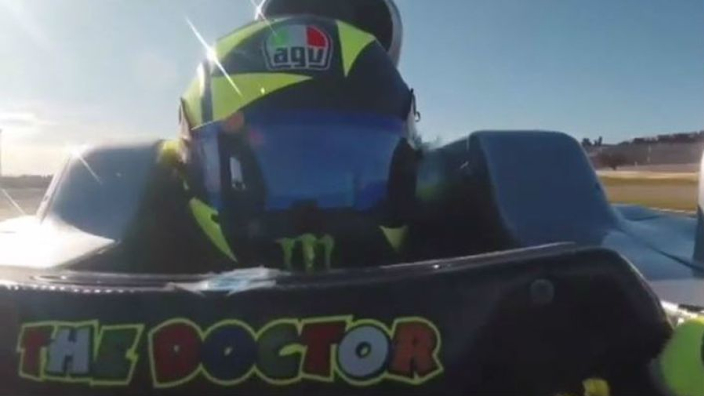 VIDEO: Rossi drives Hamilton's Mercedes - onboard with 'The Doctor'