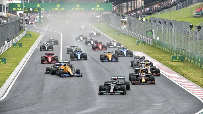 Hungarian GP: Ocon takes shock victory after lap-one carnage and Mercedes tactical gaffe
