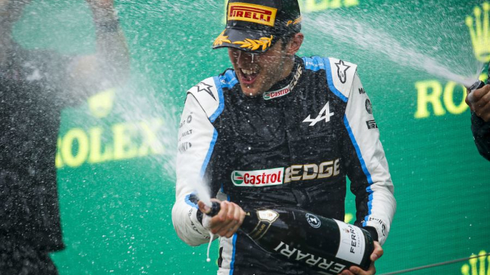 "Ocon's ""fantastic"" maiden win puts Alpine ""back where we belong"""