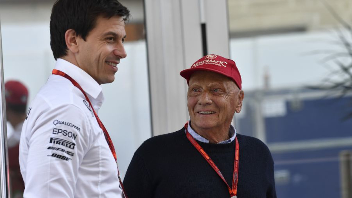 "Wolff: Lauda taught me to ""never give up"""